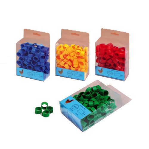 Anilla Clip Plastico para gallinas 16Mm Colores