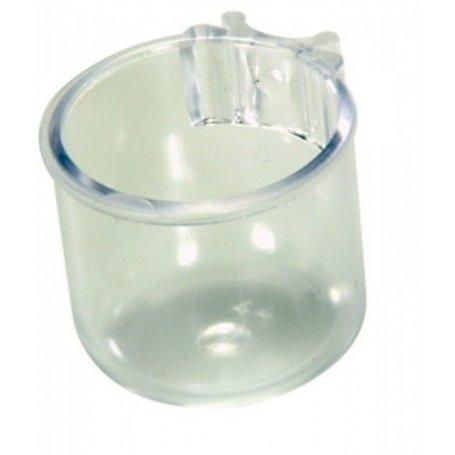 Bizcochera porta sal plastico transparente para aves