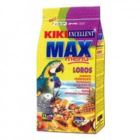 KIKI MAX MENU COMIDA LOROS Y COTORRAS 800GR