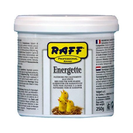 Papilla 250gr, para embuchar canarios Raff Energette