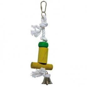 Juguete para pajaros Soporte con campana 28cm