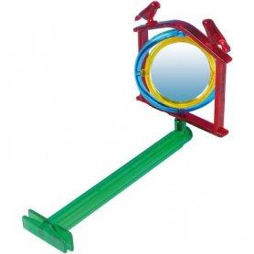 Juguete Pájaro Neon Espejo Con Percha