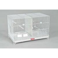 Jaula doble cría pájaros blanca/zincada 60cm - Pedrós