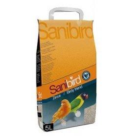 Arena absorbente Sanibird para jaulas de pájaros 5KG