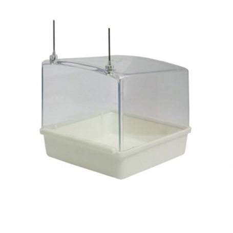 Bañera exterior cuadrada blanca para pájaros - LISA