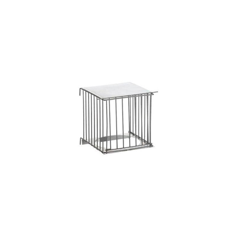 Portanido metálico exterior para jaulas Zincado o Blanco - PEDROS
