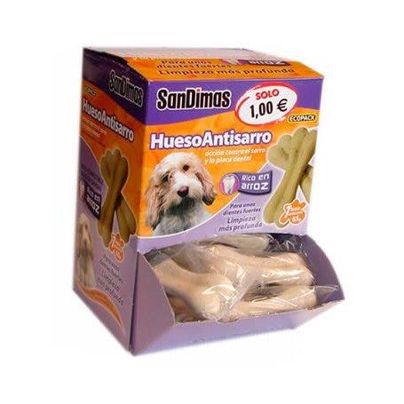 Hueso antisarro 65g con arroz snack para perros
