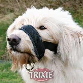 Bozal Lazo nylon entrenamiento (L) 18-30cm, negro - Trixie