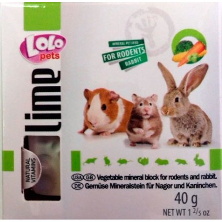 Lolo Pets Bloque (M) Mineral Vegetal para roedores