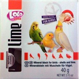 Lolo Pets Bloque (M) Mineral Crustáceos para pájaros