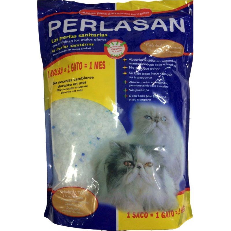 Arena perlas de sílice sanitaria gatos 1820gr, Perlasan