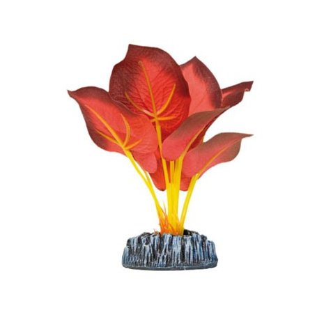 Planta Artificial De Seda Ninfa Roja 14 Cm