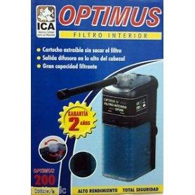Filtro interior Optimus OP200. Caudal 50-200Lts/h