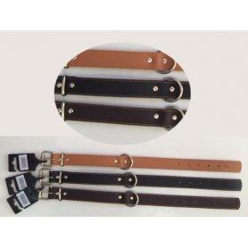 Collar Cuero Liso Cosido Talla 75, 75Cm X 3,8Cm Mabel