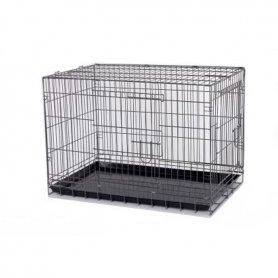Jaula Para Perros Plegable Metalica 91X 61 X 66Cm