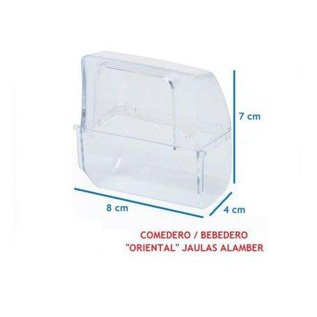 Comedero Canarios Exterior Para Soporte Plastico
