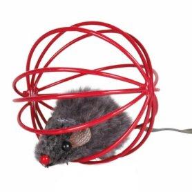 Juguete Para Gatos Raton En Esfera De Alambre 6Cm