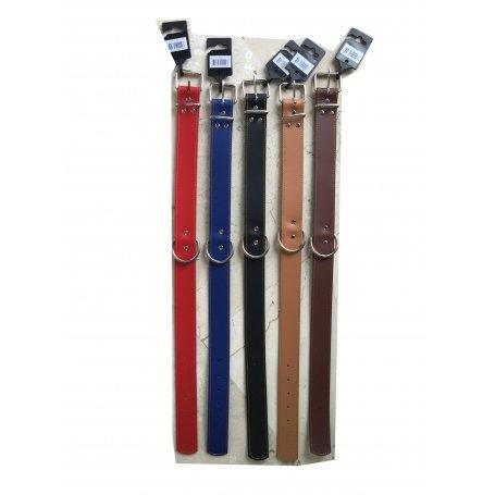 Collar Cuero Liso Cosido Talla 70, 70 X 3,8 Cm Terramar