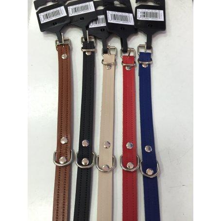 Collar Piel Terramar Modelo Laura 35 X 1,5Cm Colores Surtidos