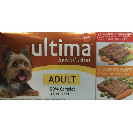 Ultima Dog Adult Mini 150Gr Pack 4Latas