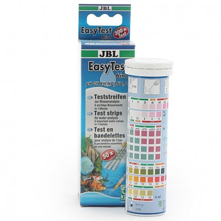 Jbl Test 6 En 1 - Easy Test Tiras Para Analizar El Agua De Acuarios