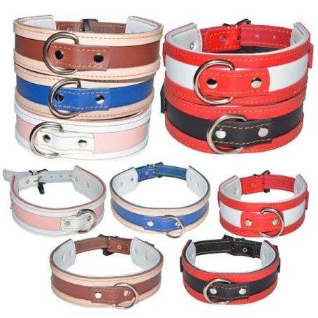 Collar Especial  Galgos Doble Piel Bicolor 45Cm