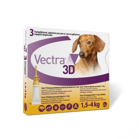 Vectra 3D Dog 3 Pipetas Para Perros De 1,5 A 4Kg