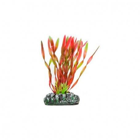 Planta Plastica Vallisneria Roja 28Cm - Decoracion De Acuarios