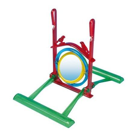 Juguete Neon Espejo 2 Posaderos Para Pajaros