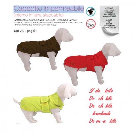 Abrigo Impermeable Desenfundable 27 Rojo
