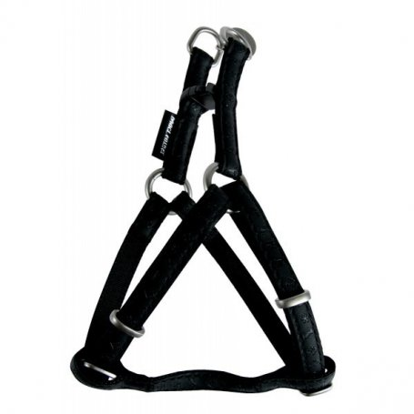Arnes Mac Leather Negro 10Mm*25/40Cm