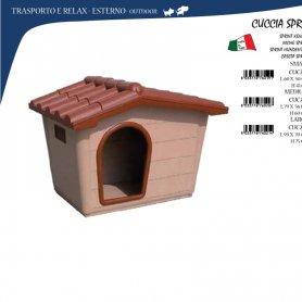 Caseta Para Perros Tejado Mediana De Plastico 79X59X61Cm