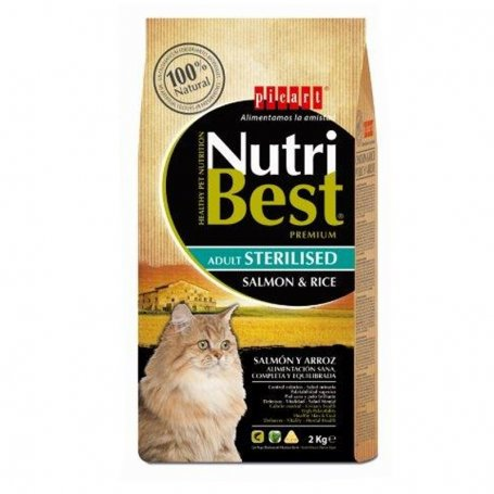 Pienso Nutribest Cat Adult Sterilised Salmon Y Arroz 2Kg