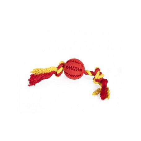Juguete Para Perros Pelota Dental Fun Con Cuerda 5Cm