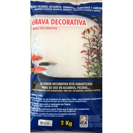 Grava Decorativa Magic Sand Blanca 2Kg