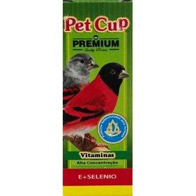 Pet Cup Vitamina E + Selenio Para Pajaros 30Ml