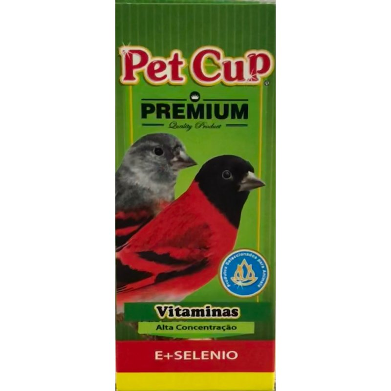 Pet Cup Vitamina E + Selenio Para Pajaros 100Ml