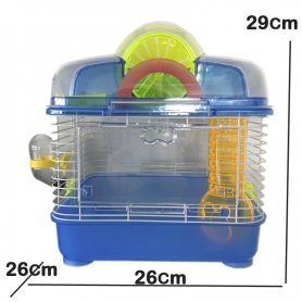 Jaula Para Hamster Confort Azul 26 X 26X 29Cm