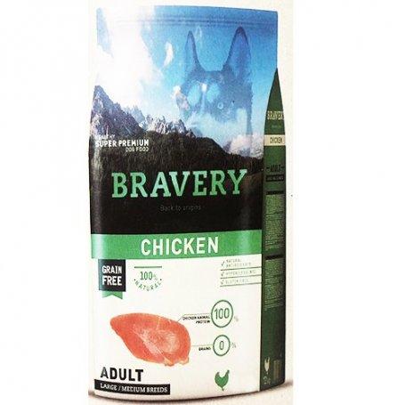 Pienso Bravery Grain Free Adult 4Kg Con Pollo
