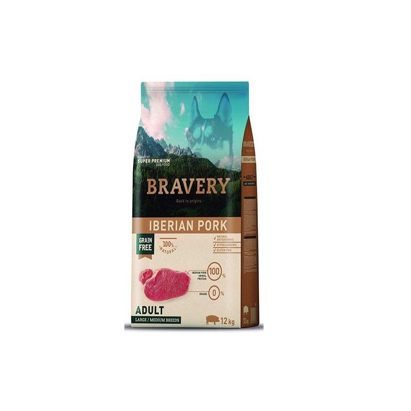 Pienso Bravery Grain Free Adult 12Kg Con Cerdo Iberico