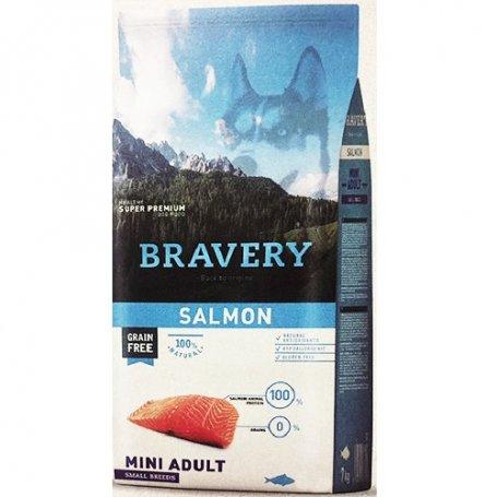 Pienso Bravery Grain Free Mini Adult 7Kg Con Salmon