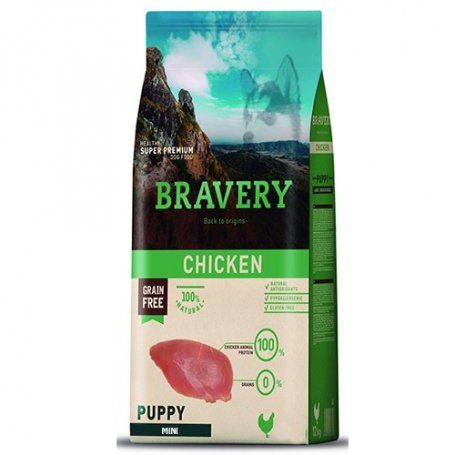 Pienso Bravery Grain Free Mini Puppy 7Kg Con Pollo