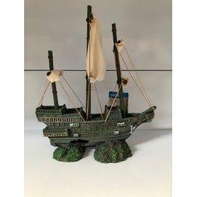 Barco Galeon  Con Vela 23 X 14 X 26Cm