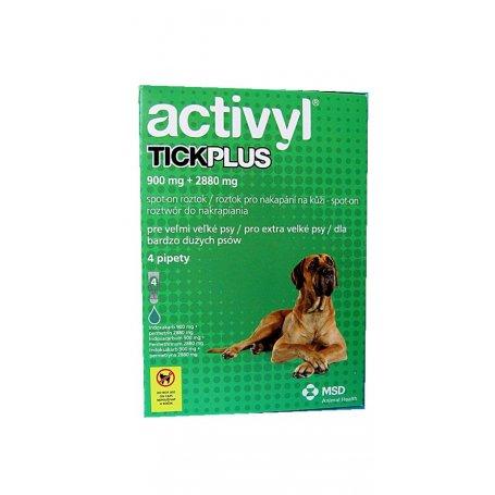 Pipetas Activyl Tick Plus Xlg D Perros De 40 A 60Kg