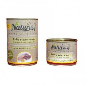 Naturdog Pollo, Pato Y Mijo 400Gr, Comida Humeda Natural Para Perros