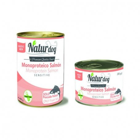 Naturdog Salmon 200Gr, Comida Humeda Natural Para Perros.