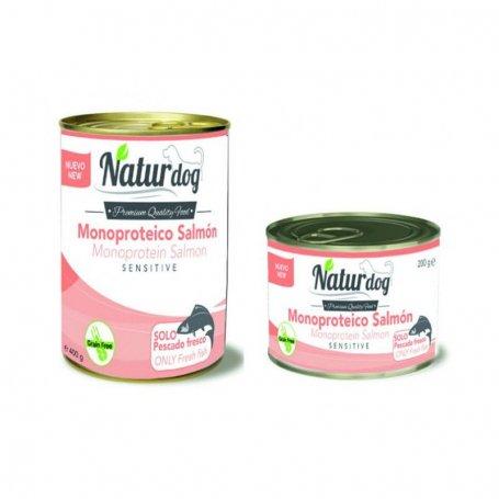 Naturdog Salmon 400Gr, Comida Humeda Natural Para Perros.