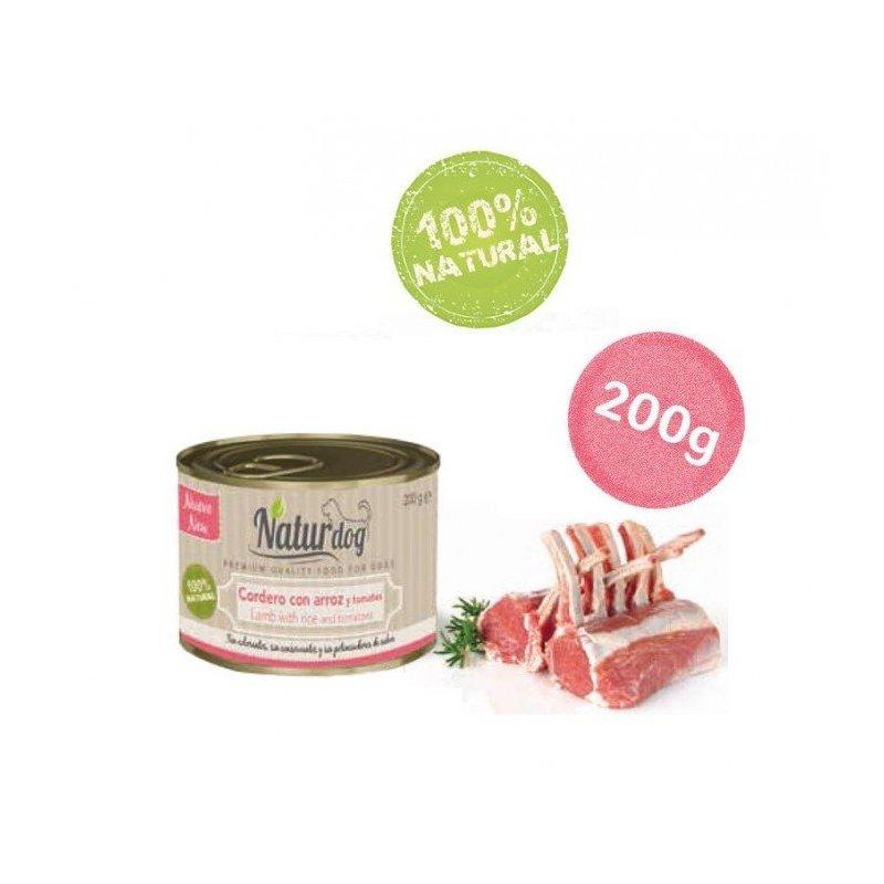 Naturdog Cordero, Arroz Y Tomate 200Gr, Comida Natural Para Perros