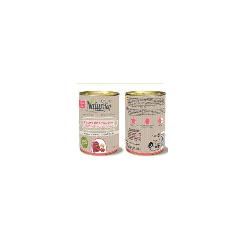 Naturdog Cordero, Arroz Y Tomate 400Gr, Comida Natural Para Perros