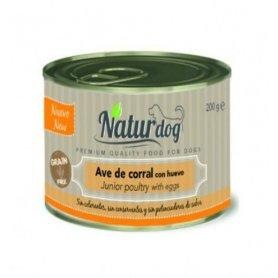 Naturdog Con Ave De Corral Y Huevo 200Gr, Comida Natural Para Perros